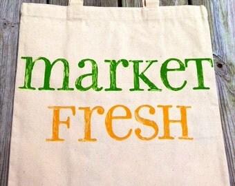 Canvas Tote - Market Fresh