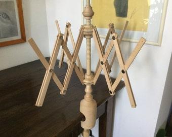 Vintage Wooden Yarn Winder, Umbrella Yarn, Yarn Swift, Yarn Winder, TableYarn Tree, Umbrella Winder, Knit Accessory, Wool Winder