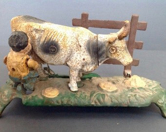 Vintage Cast Iron Milking Cow