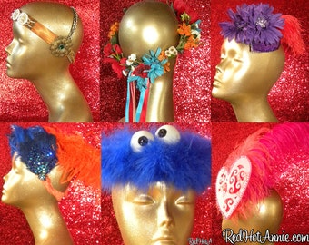 Custom Headband Headdress - Affordable Showgirl Headdress - One of A Kind Custom