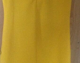 Vintage Bright Yellow Shift Dress