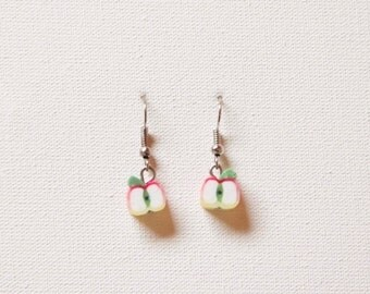 Apple fruit earrings