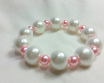 Valentine Bracelet, White and Pink Bracelet