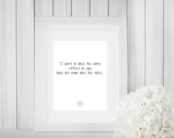 Printable Poetry - Moon