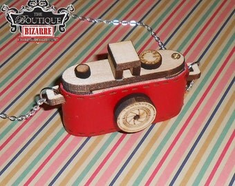 Miniature Camera Memory, SD Card Holder Necklace - Jewelry 4Photographers sliding lid, hold 1-2 memory cards, Comes in 4 Vinyl Colored Wraps