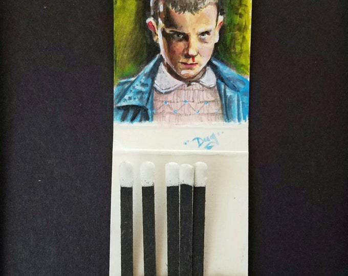 Matchbook painting - Eleven - Stranger Things