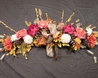 Fall swag - Wedding Arbor Decorations - Floral swag - Mantel swag - Fall floral swag - Wedding decorations - Fall Wedding flowers