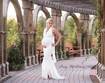 Styled maternity shoot dresses