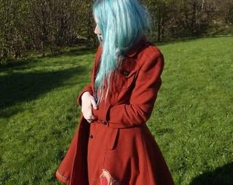 Autumn Fire Rose Winter coat