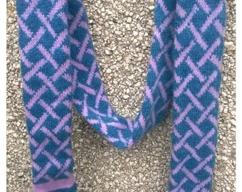 Long skinny scarf,Two colour scarf