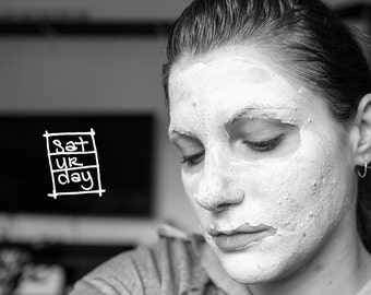 BOXED DAYS. (Scrapbooking Digital Download - Photoshop Brush Stamps - Handwritten Days of the Week in Boxes)