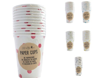 Paper Cups Party (9oz) Dots - Tableware Wedding Birthday Decoration