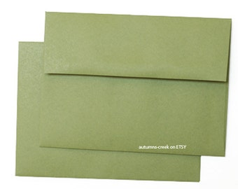 25  A7 A-7 Jolly Green Square-Flap Envelope - 5x7
