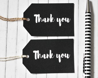 Thank You Gift Tag, Large Gift Tags, Wedding Gift Tag, Bonbonnieres Tag, Black and White Gift Tag, Minimalist Tag, Minimalist Wrap