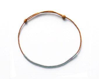 TRANSPARENT GREY-GREEN - bracelet