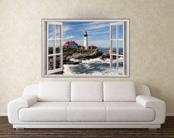 Lighthouse Instant 3D Window Removable Decal Home Decor Mural Wall Vinyl Sticker