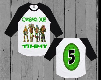 Ninja Turtle Birthday Shirt - TMNT Birthday Shirt