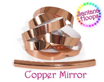 Metallic Copper Mirror Taped performance Hula Hoop Polypro or HDPE