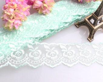 Lace DA11 trim 10yards ribbon floral embroidery