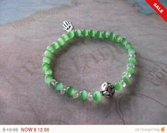 Green mexican opal bracelet