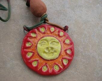 Sunface Essential Oils  Car Freshener, Ceramic Sun face Auto Freshener, Sun Diffuser, Aromatherapy