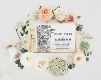 CLAIRE BOTANICAL SUITE || Bold botanicals, vintage style, sophisticated simplicity