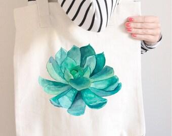 Bridesmaid Tote Bag, Bridesmaid Gift, Succulent tote, Succulent wedding favor, Succulent gift, Wedding gift, Wedding bag, Сhristmas gift