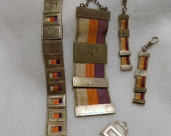 800 European Silver Student to Professor Watch Fob Bookmarks, c. 1927 to 1932