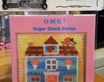 JUNE Cotton Candy Cabin - Cross Stitch Chart OMG #26 Counted Confections