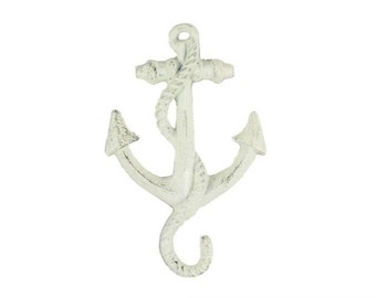 "Cast Iron Anchor Hook 5"" / Rustic Gold / Rustic Silver / Rustic Dark Blue Bronze"