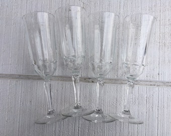 SET Vintage Crystal Champagne Glasses, vintage wedding toasting flutes, crystal champagne glasses, Mimosa glasses, brunch glass CELEBRATE