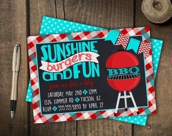 Summer Barbecue Party Invitation -  BBQ