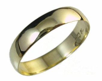 Wedding band, man wedding band, women wedding band, 14 karat yellow gold,made to order ring,wedding jewelry,Convex ring, yellow gold ring