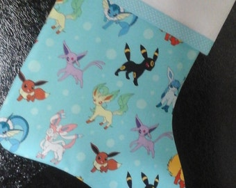 Pokemon stocking back solid colors.