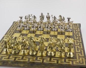 Discobolus chess set (25X25) / Bronze chess board