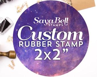 Custom Stamp, Custom Logo Stamp, DIYer Gift Stamp, Business Logo Stamp, Custom Rubber Stamps 2x2 Inch