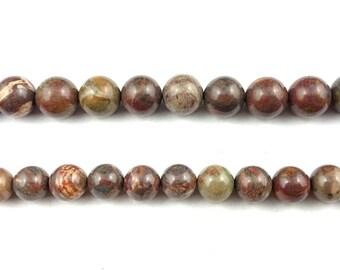 natural brown jasper beads, loose gemstone beads, round semi precious stone beads for jewelry making 8mm 10mm 12mm strand