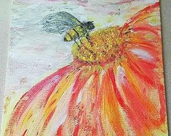 Fall HoneyBee on Canvas