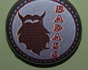 Adult Merit badges-Bada*s beard merit badge single