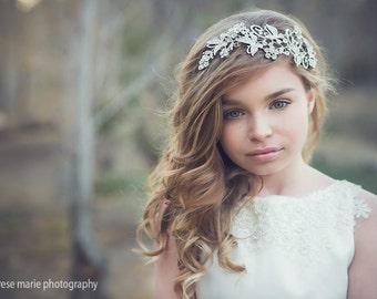 Rhinestone Flower Girl Head Piece