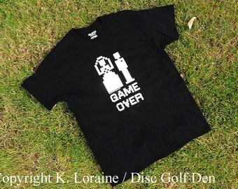 Game Over 8-Bit Wedding, Marriage, Bride & Groom Shirt - Black - 50 Cotton / 50 Poly - Copyright K. Loraine