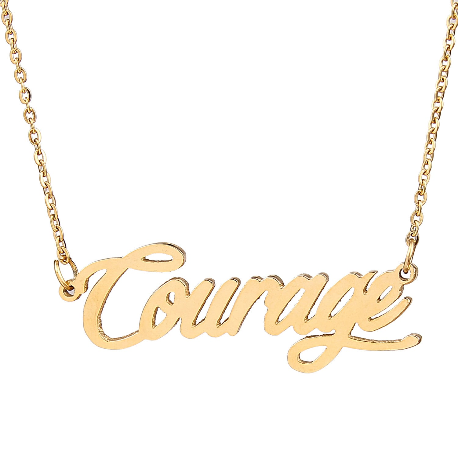 personalized necklace courage charm necklace name by