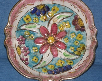 Beautiful H. Bequet Hand Painted Bowl - Made in Belgium
