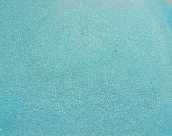 Turquoise Colored Sand ~ 12oz (1 cup vol.)  Turquoise Unity Sand ~ Turquoise Wedding Sand ~ Turquoise Sand ~ Turquoise Craft Sand ~