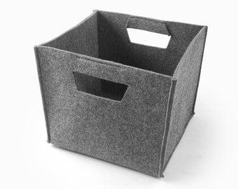 Felt Storage Box Felt Container Storage Bin Living Room Storage Bin  Container Bin Tote Box Fashional
