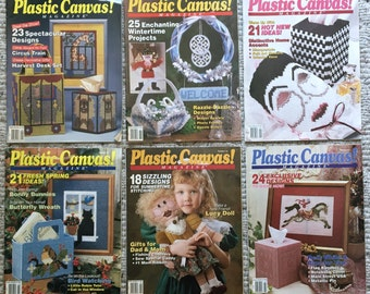 Set of 6 Plastic Canvas! Magazines Numbers 10, 11, 12, 13, 14 & 15