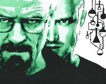 Breaking Bad A3 Acrylic Painting