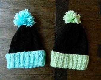 Knit Neon Pom Hat