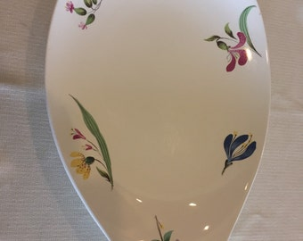 Serving Platter, Eva Zeisel, Bouquet pattern, Hallcraft,