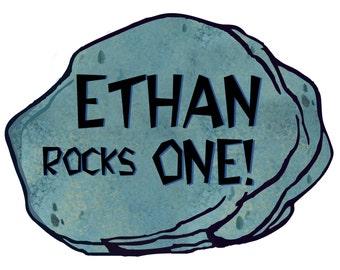 Digital Flintstones Rock Sign